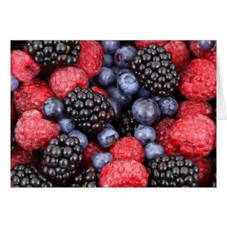 Fondo de la fruta del bosque tarjeta de felicitación