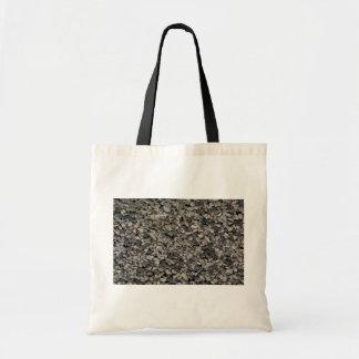 Fondo de la grava bolsa lienzo