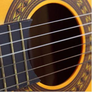 Fondo de la guitarra acústica adorno fotoescultura