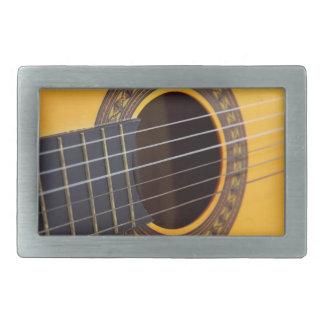 Fondo de la guitarra acústica hebilla de cinturón rectangular