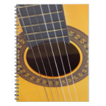 Fondo de la guitarra acústica libretas espirales