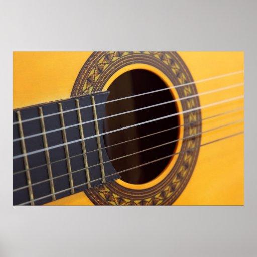 Fondo de la guitarra acústica poster