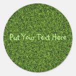 Fondo de la hierba pegatina redonda