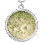 Fondo de la hierba y de la arena de la charca joyerias