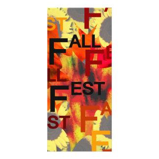 Fondo de la hoja con el Fest de la caída repetido  Lona Publicitaria