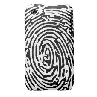 Fondo de la huella dactilar Case-Mate iPhone 3 cobertura