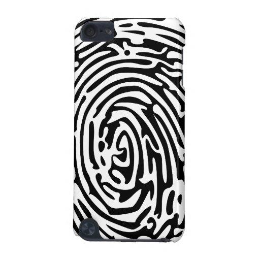 Fondo de la huella dactilar funda para iPod touch 5G