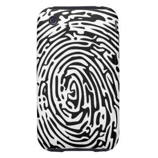 Fondo de la huella dactilar iPhone 3 tough funda