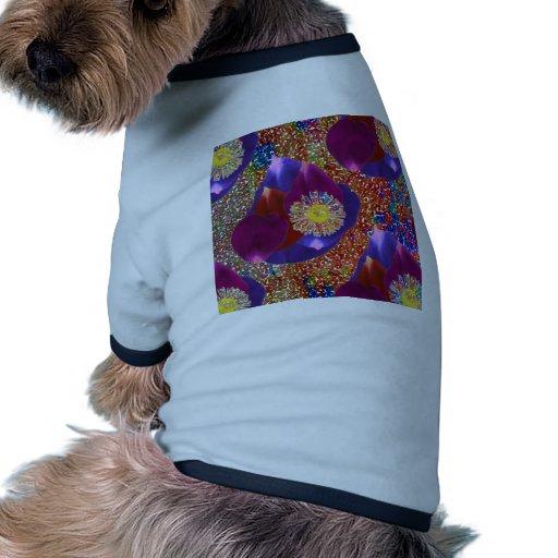 Fondo de la joya de la chispa del arte n del pétal camisetas mascota