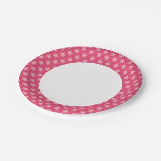 Fondo de la madreselva plato de papel de 7 pulgadas
