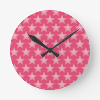 Fondo de la madreselva reloj redondo mediano