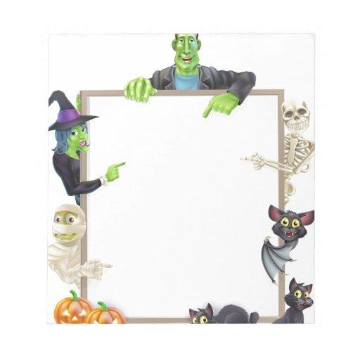 Fondo de la muestra de Halloween Blocs De Papel