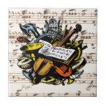 Fondo de la música de Rossini del ~ de los Azulejo Cuadrado Pequeño