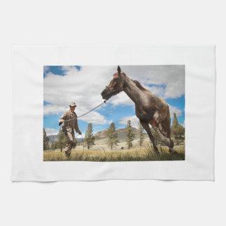 Fondo de la naturaleza del destino de la granja de toallas de mano