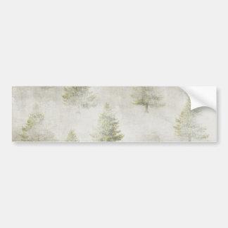 Fondo de la nieve del Grunge del árbol de pino del Pegatina Para Auto
