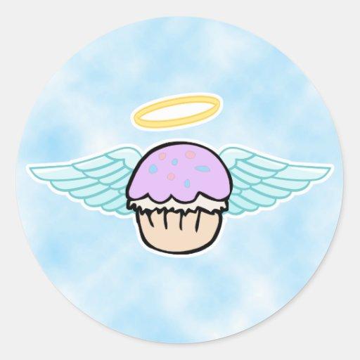 fondo de la nube, ángel de la magdalena ningún pegatinas redondas