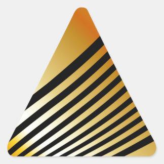 fondo de la onda pegatina triangular