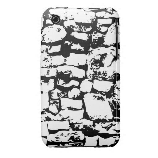 fondo de la pared de la roca iPhone 3 Case-Mate cobertura
