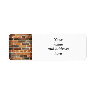 Fondo de la pared de ladrillo etiqueta de remitente