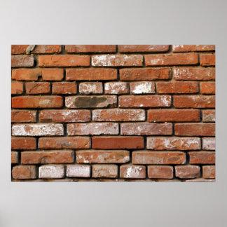 Fondo de la pared de ladrillo poster