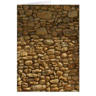 Fondo de la pared de ladrillo tarjeta de felicitación