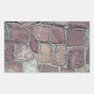 Fondo de la pared de piedra de piedras naturales rectangular pegatinas