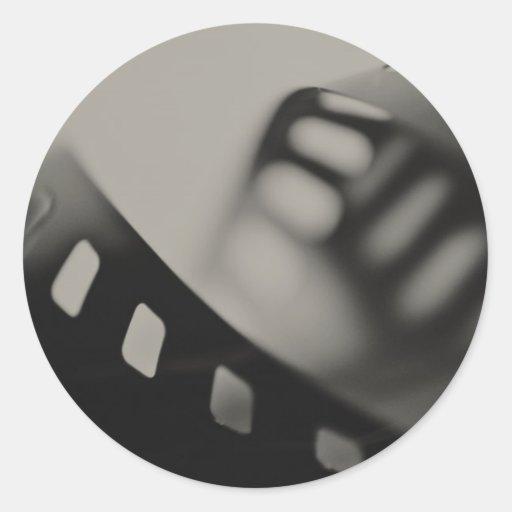 Fondo de la película etiquetas redondas