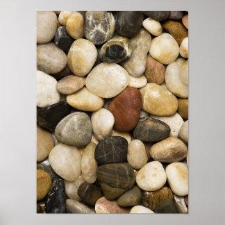 Fondo de la piedra de la roca del río - plantilla  posters