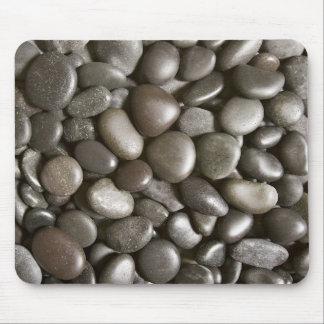 Fondo de la piedra del negro de la roca del río -  alfombrilla de ratones