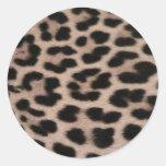 Fondo de la piel del leopardo pegatinas