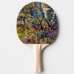 Fondo de la pintada pala de ping pong