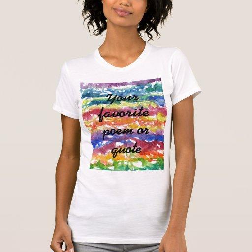 Fondo de la pintura de la acuarela del teñido anud camisetas