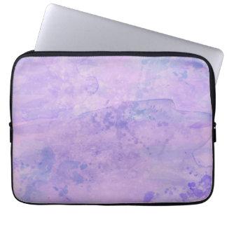 Fondo de la pintura de la acuarela, púrpura fundas computadoras