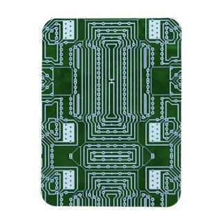 Fondo de la placa de circuito iman de vinilo