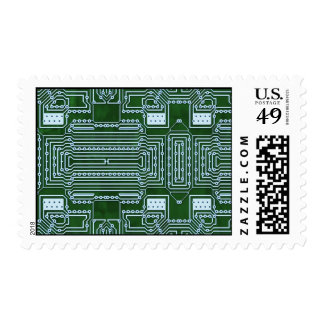Fondo de la placa de circuito sello