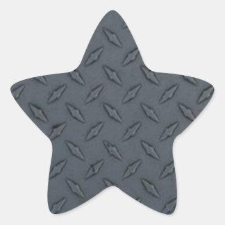 Fondo de la placa del diamante pegatina en forma de estrella