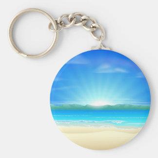 Fondo de la playa de la arena del verano llavero