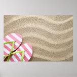 Fondo de la playa de Sandy con flips-flopes