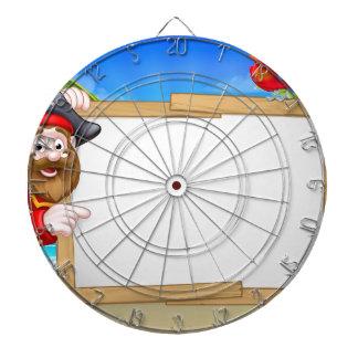 Fondo de la playa del pirata del dibujo animado