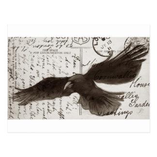 fondo de la postal del cuervo