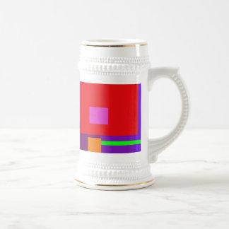 Fondo de la púrpura de la Plaza Roja Tazas De Café