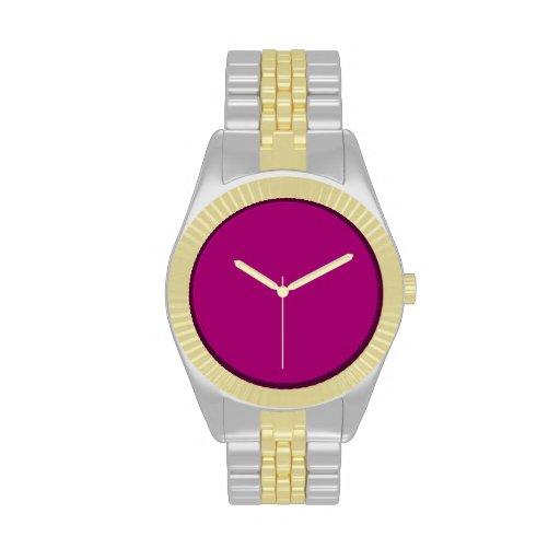 Fondo de la púrpura del ligón relojes de mano