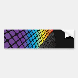 Fondo de la rejilla del arco iris pegatina de parachoque
