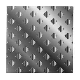 fondo de la rejilla del metal azulejo cuadrado pequeño