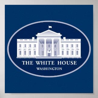 Fondo de la rueda de prensa de la Casa Blanca Póster