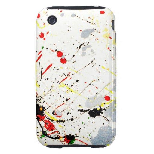 Fondo de la salpicadura de la pintura de los artis tough iPhone 3 protectores