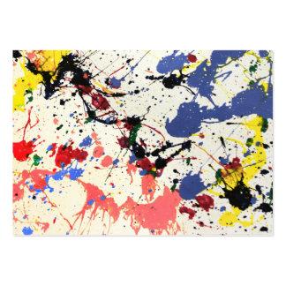 Fondo de la salpicadura de la pintura de los artis tarjetas de visita