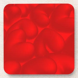 Fondo de la tarjeta del día de San Valentín con Posavasos