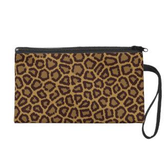 Fondo de la teja con una piel del leopardo