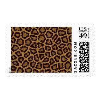 Fondo de la teja con una piel del leopardo sello